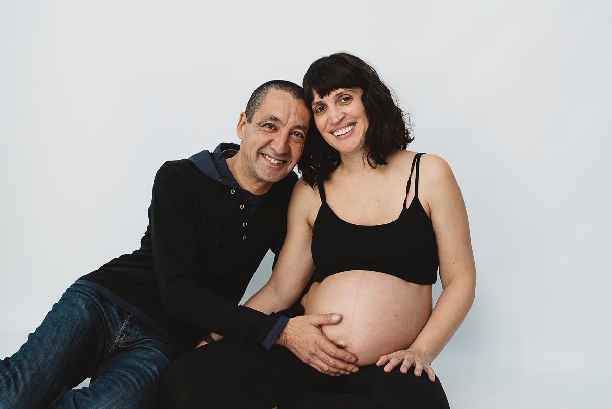 Fotografías de embarazo en estudio