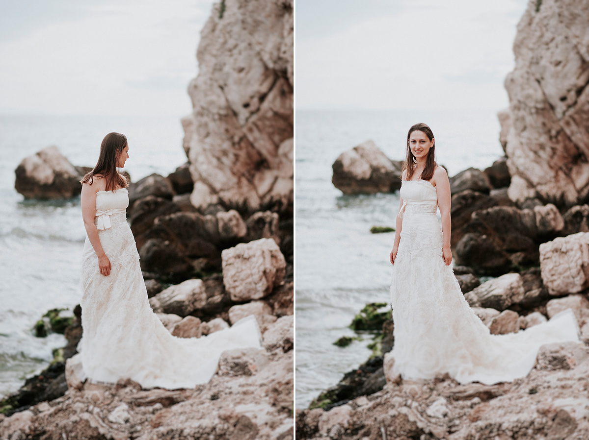 Bride at the beach-Mireia Navarro Photography