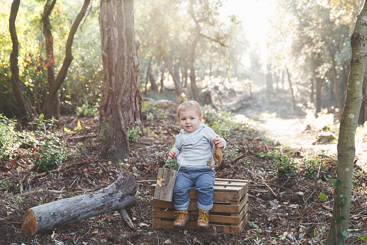Fotografía infantil en exteriores