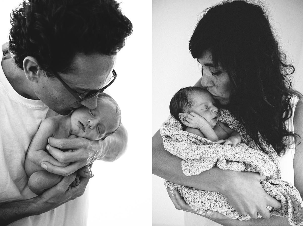 Fotografía recién nacido con padres