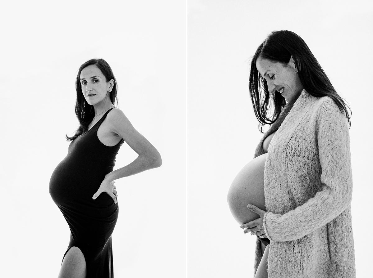 Fotografía embarazo de gemelos