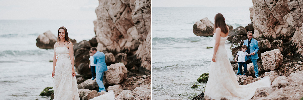 Post wedding photography session at the beach