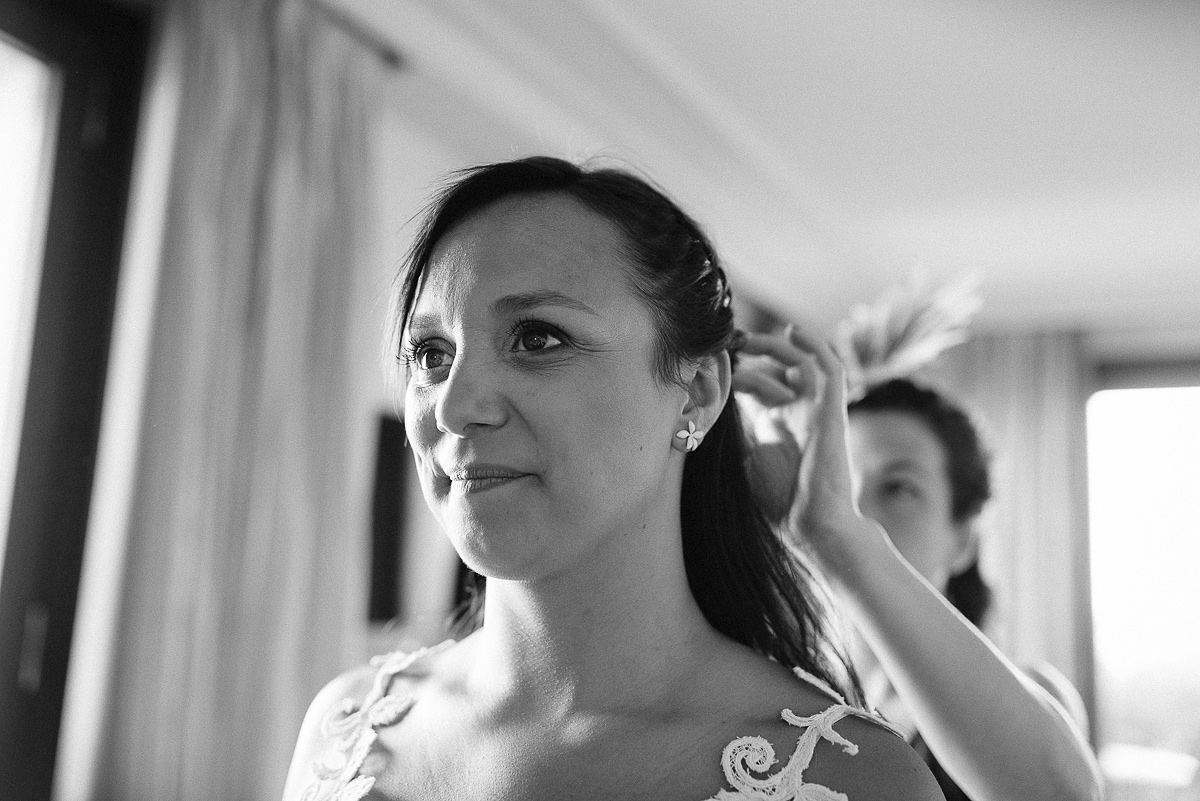 Preparativos de la novia para la boda